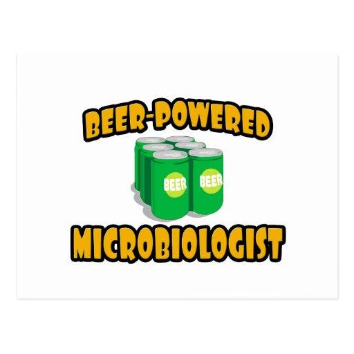 Microbiólogo Cerveza-Accionado Tarjetas Postales
