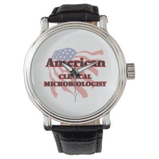 Microbiólogo clínico americano reloj de mano