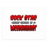 Microbiólogo de la estrella del rock… tarjetas postales