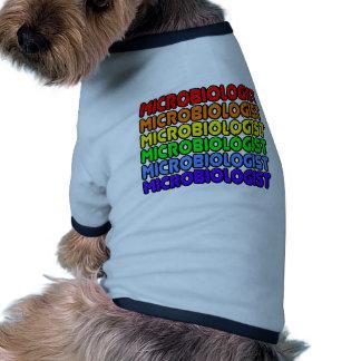 Microbiólogo del arco iris ropa para mascota