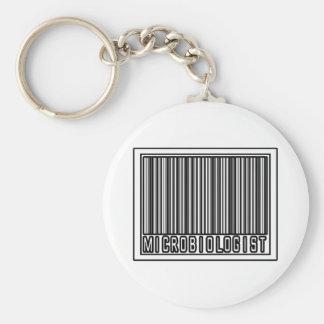 Microbiólogo del código de barras llavero personalizado