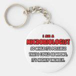 Microbiólogo divertido. Altamente inverosímil Llavero Redondo Tipo Pin