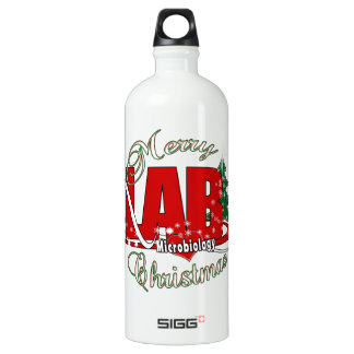 MICROBIOLOGY CHRISTMAS MEDICAL LABORATORY TECH ALUMINUM WATER BOTTLE