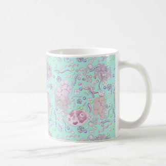 Microbiology in Blue Classic White Coffee Mug