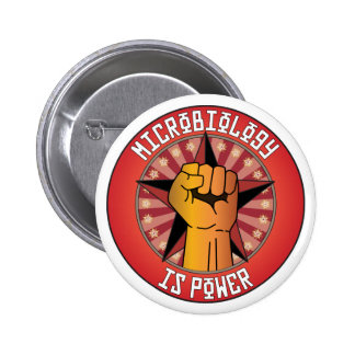 Microbiology Is Power 2 Inch Round Button