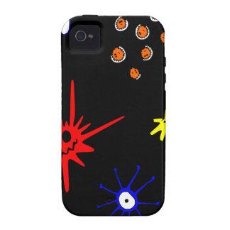 microbios en negro Case-Mate iPhone 4 carcasa