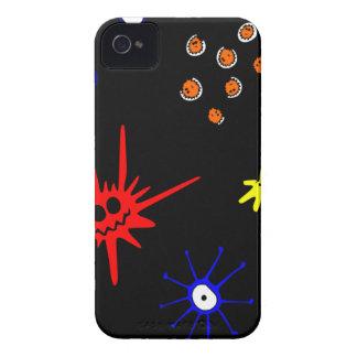 microbios en negro funda para iPhone 4 de Case-Mate