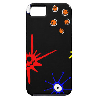 microbios en negro funda para iPhone SE/5/5s