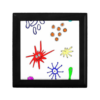 microbios joyero cuadrado pequeño