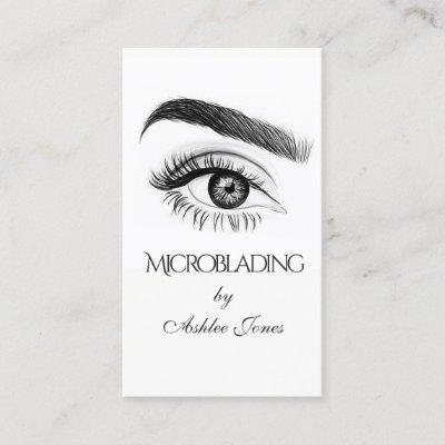 Microblading eyebrows tattoo permanent makeup business card microblading eyebrows tattoo permanent makeup business card zazzle reheart Image collections
