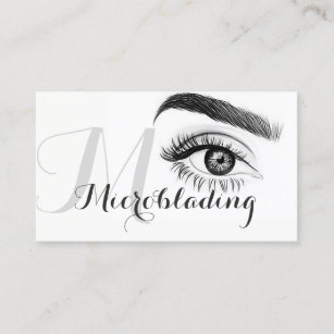 Microbladingeyebrowstattoopermanent business cards templates zazzle microblading eyebrows tattoo permanent makeup business card colourmoves