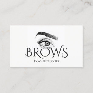 Permanent makeup artist business cards zazzle microblading eyebrows tattoo permanent makeup business card reheart Choice Image