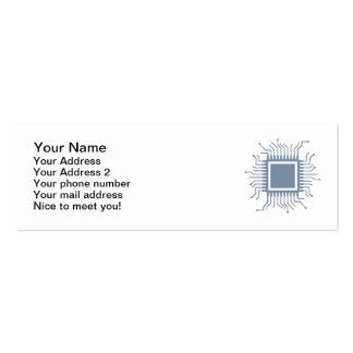 Microchip chip computer Double-Sided mini business cards (Pack of 20)