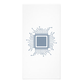 Microchip chip computer photo greeting card