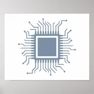 Microchip chip computer poster