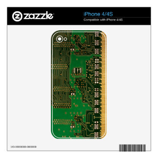 Microchip / circuit board background iPhone skin Skins For The iPhone 4S