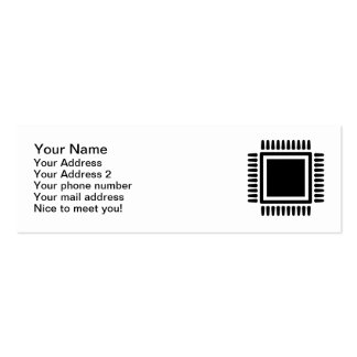 Microchip computer Double-Sided mini business cards (Pack of 20)