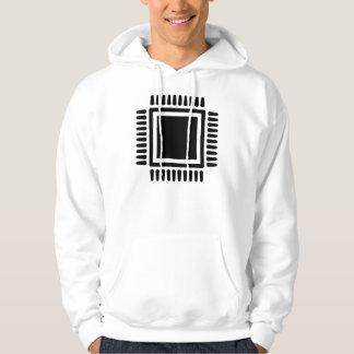Microchip computer hoodie