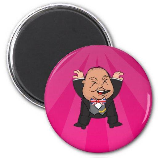 microChurchill Jumping Magnet - Pink