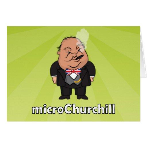 microChurchill que fuma - carta verde en blanco Tarjeta De Felicitación