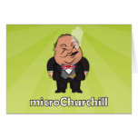 microChurchill Smoking - Blank green card