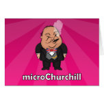 microChurchill Smoking - Blank pink card