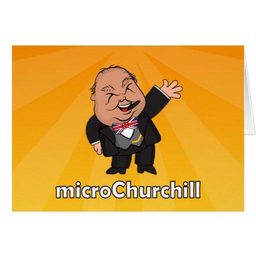 microChurchill Waving - Blank yellow card