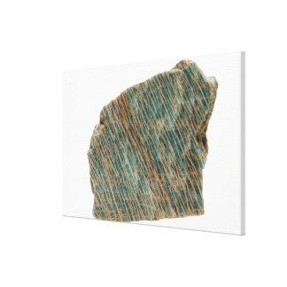 Microcline, Variety Amazonite,  Ontario, Canada Canvas Print