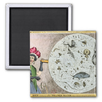 Microcosm dedicated to the London Water 2 Inch Square Magnet