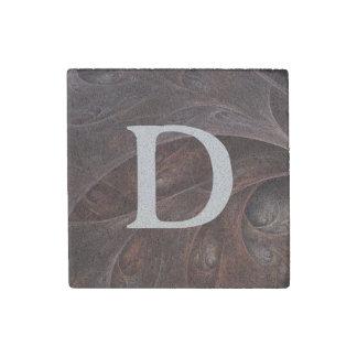 """Microcosm"" Monogrammed Stone Magnet"