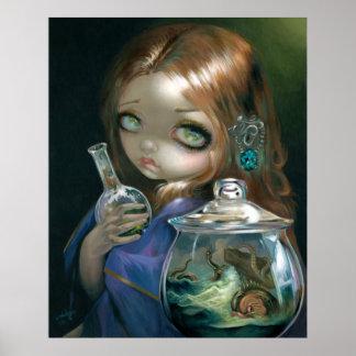 Microcosm:  Sea Monsters ART PRINT pop surrealism