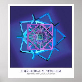 Microcosmos polihédrico poster