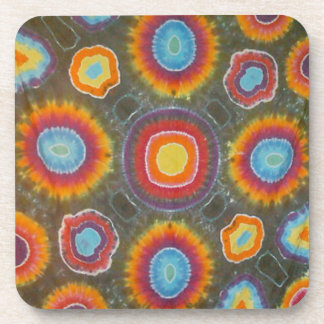 Microdot Tie Dye Circles Beverage Coaster