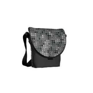 Microdots grises bolsas de mensajería