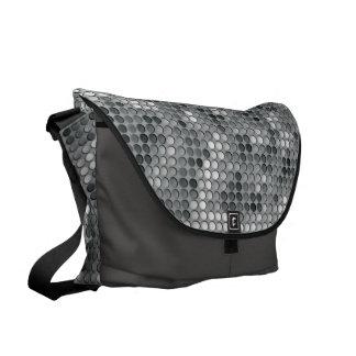 Microdots grises bolsa de mensajería