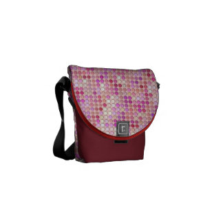Microdots rosados bolsa messenger