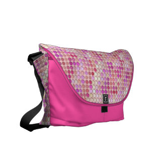 Microdots rosados bolsa de mensajería