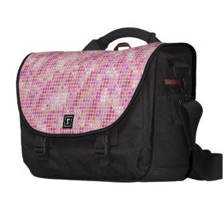 Microdots rosados bolsas para ordenador