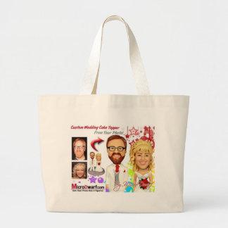 MicroDwarf.com Wedding Cake Toppers Canvas Bags
