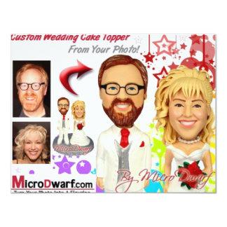 MicroDwarf.com Wedding Cake Toppers Custom Invitations