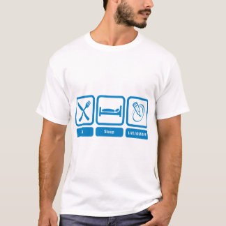 Microfiber Long Sleeve (Eat, Sleep, LiveJournal) T-Shirt