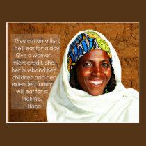 Microfinance Postcard