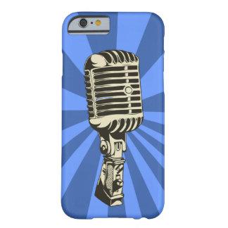 Micrófono clásico (azul) funda de iPhone 6 barely there
