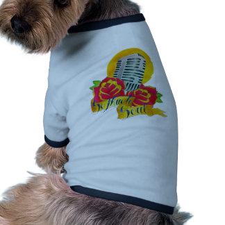 Micrófono de destello de la escuela vieja del tatu camisetas de mascota