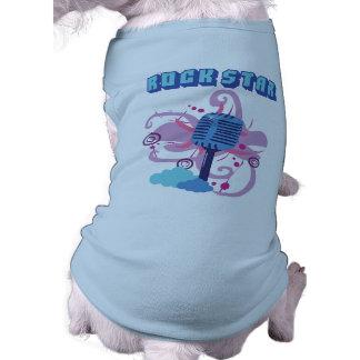 Micrófono de la estrella del rock camisas de perritos