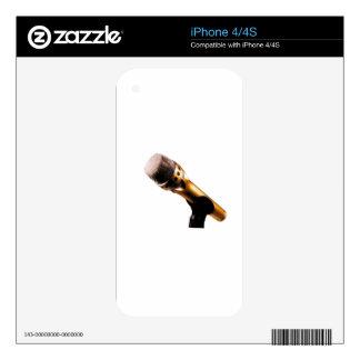 Micrófono de oro skin para el iPhone 4S