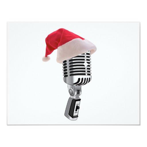 "micrófono de santa invitación 4.25"" x 5.5"""