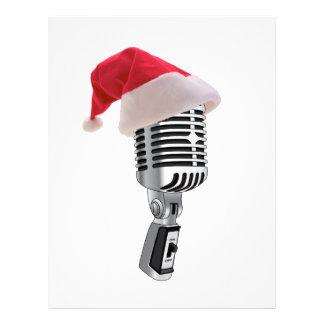 micrófono de santa membretes personalizados