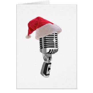 micrófono de santa tarjetón