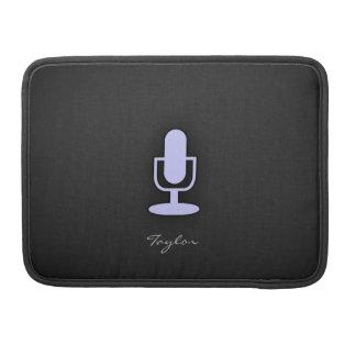 Micrófono del azul de la lavanda funda macbook pro